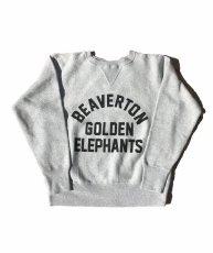 画像1: BUDDY 別注 Champion リバースウィーブ ガゼット付き クルースウェット - GOLDEN ELEPHANTS (1)