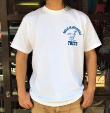 画像1: BUDDY 別注 PEANUTS スヌーピーTシャツ WORLD CHAMPIONSHIP TOKYO (1)