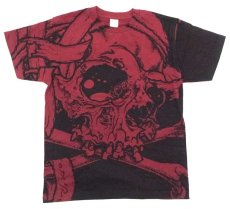 画像1: PUSHEAD ALLOVER T-SHIRT SB Ver. BURGUNDY (1)