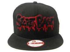 画像2: New Era × SECRETBASE 9FIFTY CAP BLACK x RED Ver (2)