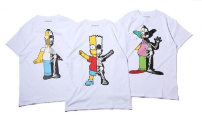 画像1: THE SIMPSONS x SECRET BASE x atmos HOMER X-RAY  TEE WHITE