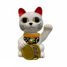 画像1: BOBBLING HEAD LUCKY CAT FULL COLOR SHIRONEKO Ver.[名入れサービス] (1)