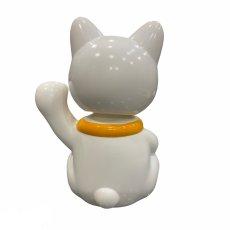 画像2: BOBBLING HEAD LUCKY CAT FULL COLOR SHIRONEKO Ver.[名入れサービス] (2)