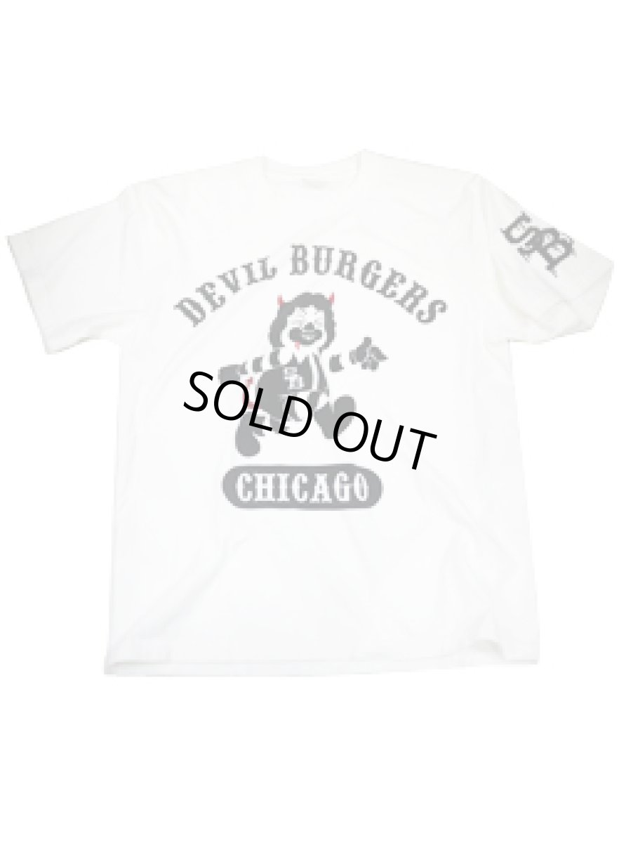 画像1: DEVIL BURGERS T-SHIRT WHITE (1)