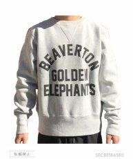 画像7: BUDDY 別注 Champion リバースウィーブ ガゼット付き クルースウェット - GOLDEN ELEPHANTS (7)