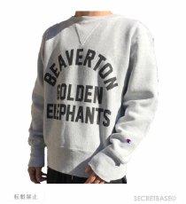 画像9: BUDDY 別注 Champion リバースウィーブ ガゼット付き クルースウェット - GOLDEN ELEPHANTS (9)