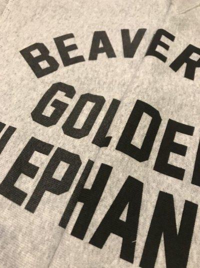画像1: BUDDY 別注 Champion リバースウィーブ ガゼット付き クルースウェット - GOLDEN ELEPHANTS