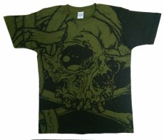 画像1: PUSHEAD ALLOVER T-SHIRT SB Ver. CITY GREEN (1)
