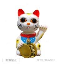 画像1:  BOBBLING HEAD LUCKY CAT FULL COLOR WHITE Ver.[名入れサービス] (1)