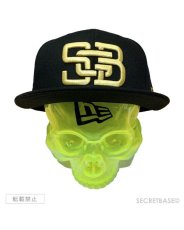 画像2: SBG New Era 9FIFTY × SECRETBASE 1/1 SKULL HEAD CLEAR YELLOW SET (2)