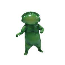 画像1: ギョーザ男(ソフビ人形)・緑 [アニメ化記念] (1)
