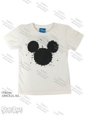 "画像1: DISNEY別注 The Disney Channel ""SPLASH MICKEY"" T-SHIRTS Kids WHITE (1)"