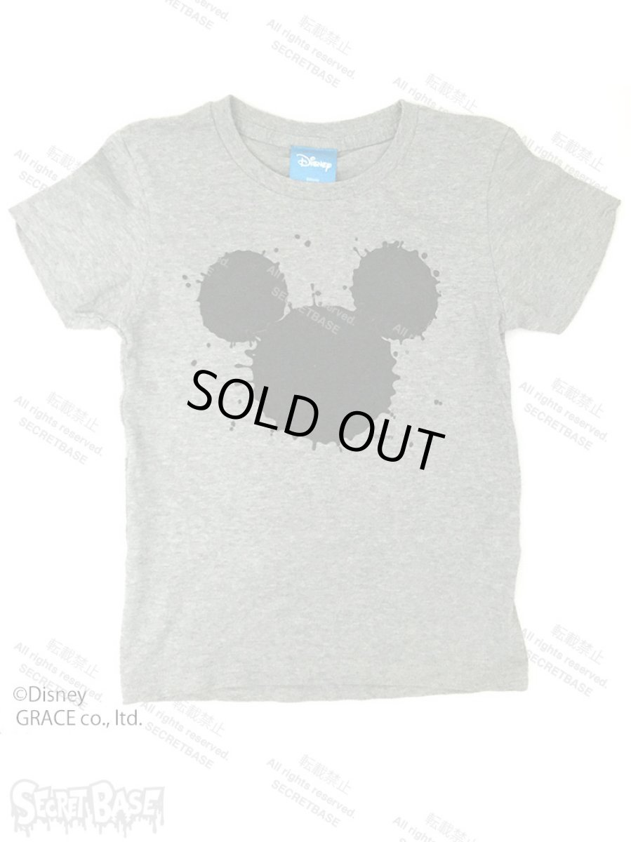"画像1: DISNEY別注 The Disney Channel ""SPLASH MICKEY"" T-SHIRTS Kids GRAY (1)"