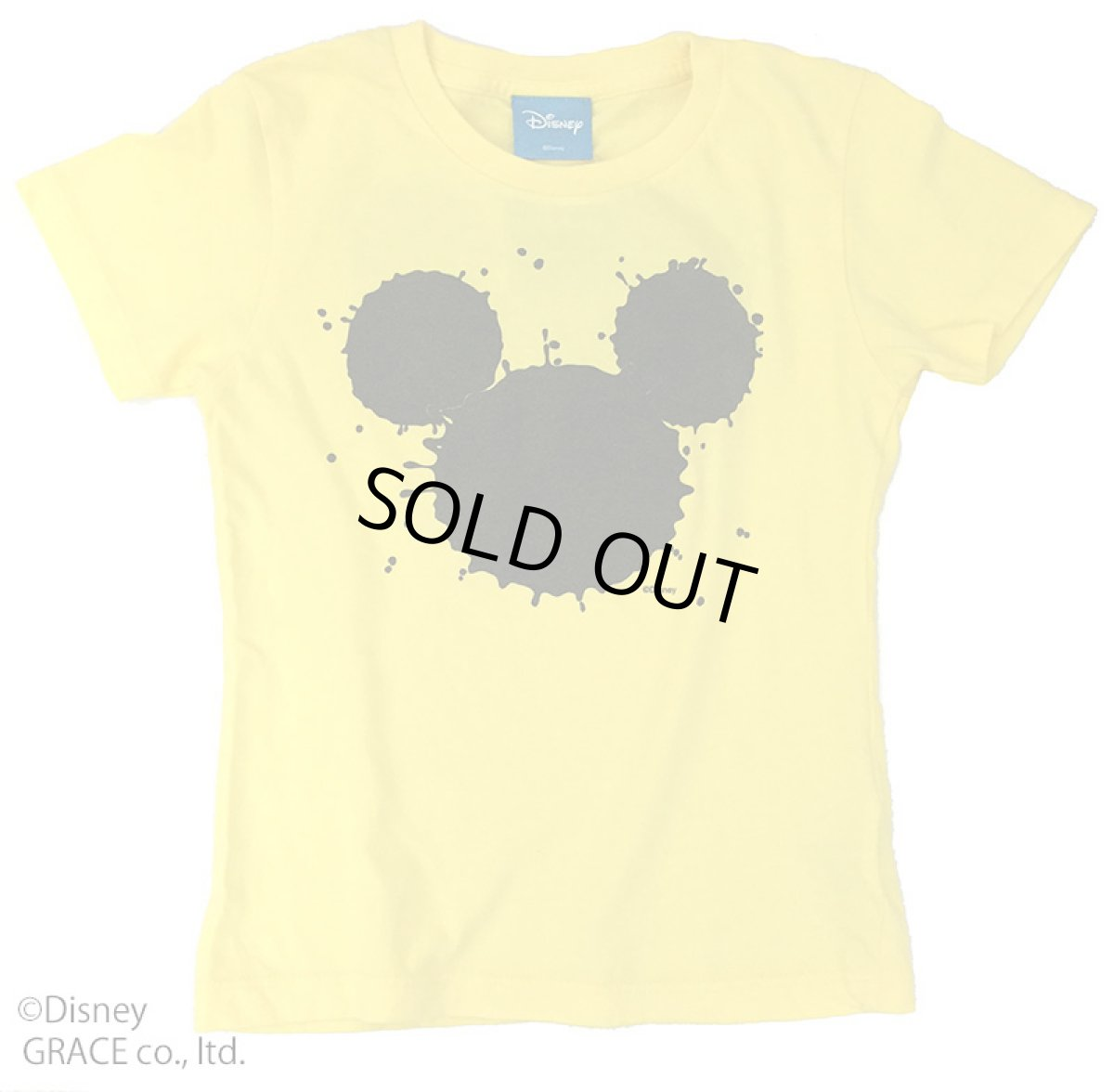 "画像1: DISNEY別注 The Disney Channel ""SPLASH MICKEY"" T-SHIRTS Kids YELLOW (1)"