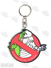 画像3: GHOSTBUSTERS X-RAY Logo & Slimer RUBBER KEY HOLDER (3)