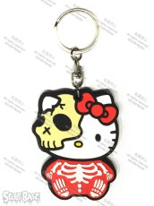 画像1: HELLO KITTY RUBBER KEY HOLDER RED (1)