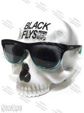 画像1: 1/1 SKULL HEAD BLACK FLYS SUN GLASS SET BLUE (1)