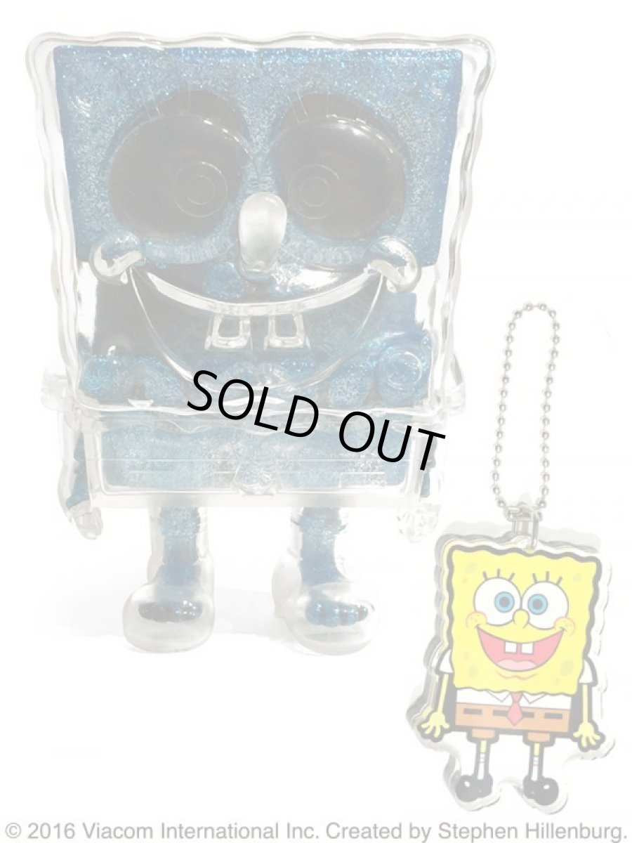 画像1: SPONGE BOB KEY CHAIN SET BLUE RAME (1)