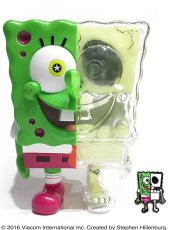 画像1: X-RAY SPONGE BOB PINS SET GREEN (1)
