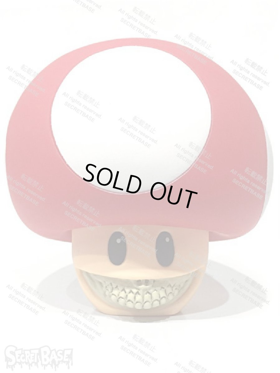 画像1: Mushroom Grin by Ron English RED (1)