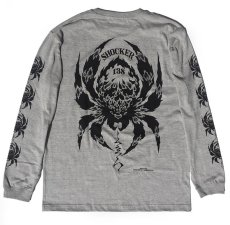 画像2: BALZAC x USUGROW SPIDER LONG TEE GRAY (2)