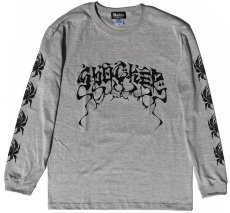 画像1: BALZAC x USUGROW SPIDER LONG TEE GRAY (1)