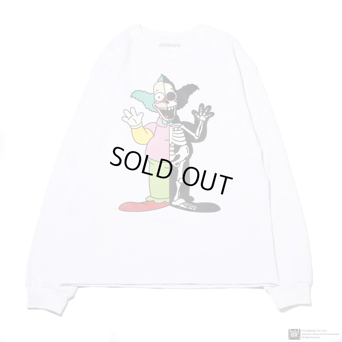 画像1: THE SIMPSONS x SECRET BASE x atmos KRUSTY X-RAY LS TEE WHITE (1)