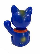 画像4: [キャンセル分] BOBBLING HEAD LUCKY CAT FULL COLOR BLUE Ver.[名入れサービス] (4)