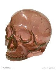 画像1: 1/1 SKULL HEAD CLEAR REDDISH BROWN  (1)
