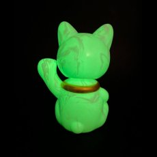 画像6: BOBBLING HEAD LUCKY CAT FULL COLOR MARBLE GLOW WHITE Ver.[名入れサービス] (6)