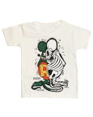 画像1: RAT FINK x SECRETBASE Original X-Ray Kid's T-shirts WHITE  (1)