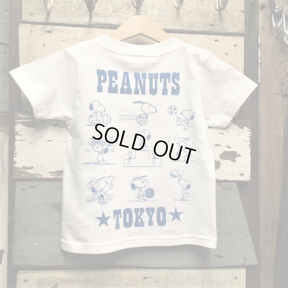 画像1: KIDS BUDDY 別注 PEANUTS スヌーピー キッズ Tシャツ WORLD CHAMPIONSHIP TOKYO (1)