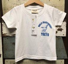 画像2: KIDS BUDDY 別注 PEANUTS スヌーピー キッズ Tシャツ WORLD CHAMPIONSHIP TOKYO (2)