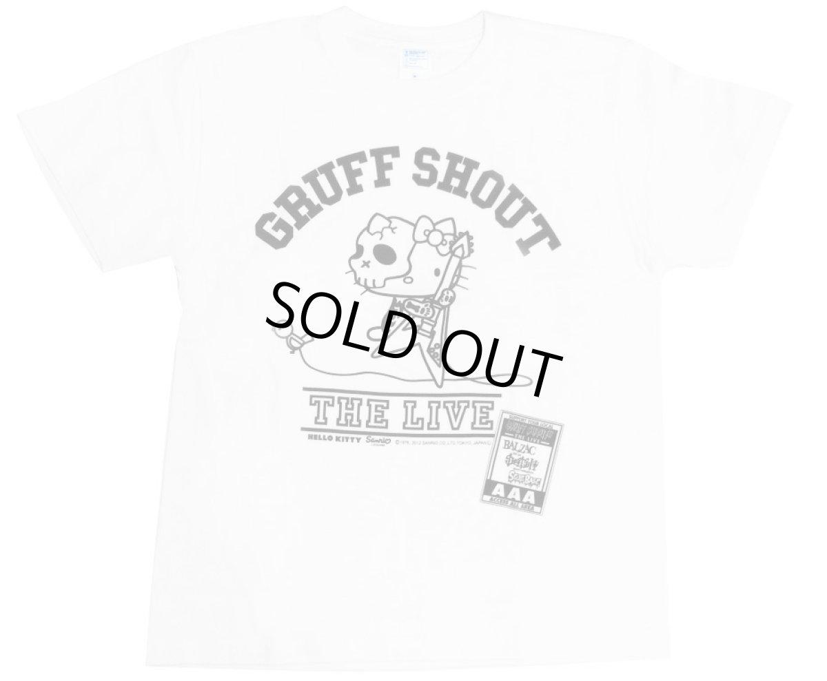画像1: GRUFF SHOUT KITTY T-SHIRT WHITE (1)