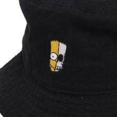 画像2: THE SIMPSONS x SECRET BASE x atmos BART BUCKET HAT BLACK (2)