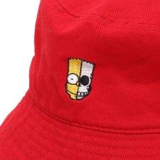 画像3: THE SIMPSONS x SECRET BASE x atmos BART BUCKET HAT RED (3)