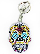 画像1: MEXICO SKULL KEY HOLDER PERPLE (1)