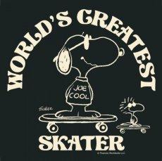 画像2: BUDDY 別注 PEANUTS スヌーピー JOE COOL Tシャツ WORLD'S GREATEST SKATER (2)