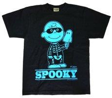 画像1: Charlie Brown T-SHIRT BLUE (1)