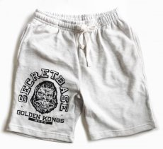 画像1: GOLDEN KONGS SWEAT HALF PANTS BLACK (1)