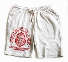 画像1: GOLDEN KONGS SWEAT HALF PANTS RED (1)