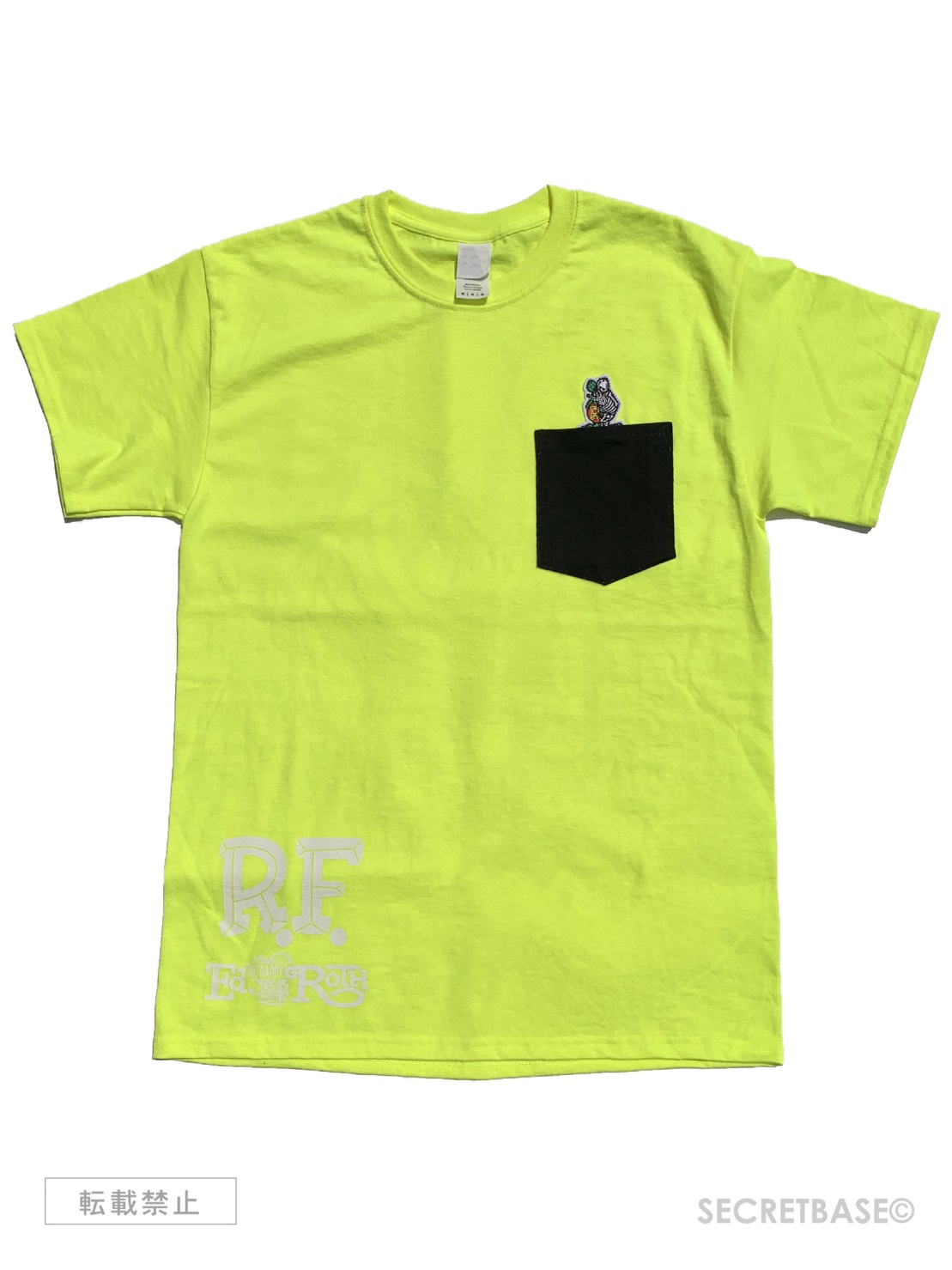 画像1: RAT FINK x SECRETBASE POCKET T-SHIRTS Safety Green (1)