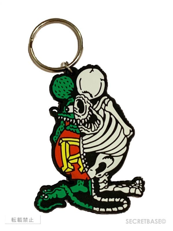 画像1: X-RAY RAT FINK RUBBER KEY HOLDER Glow in the Dark Ver. (1)
