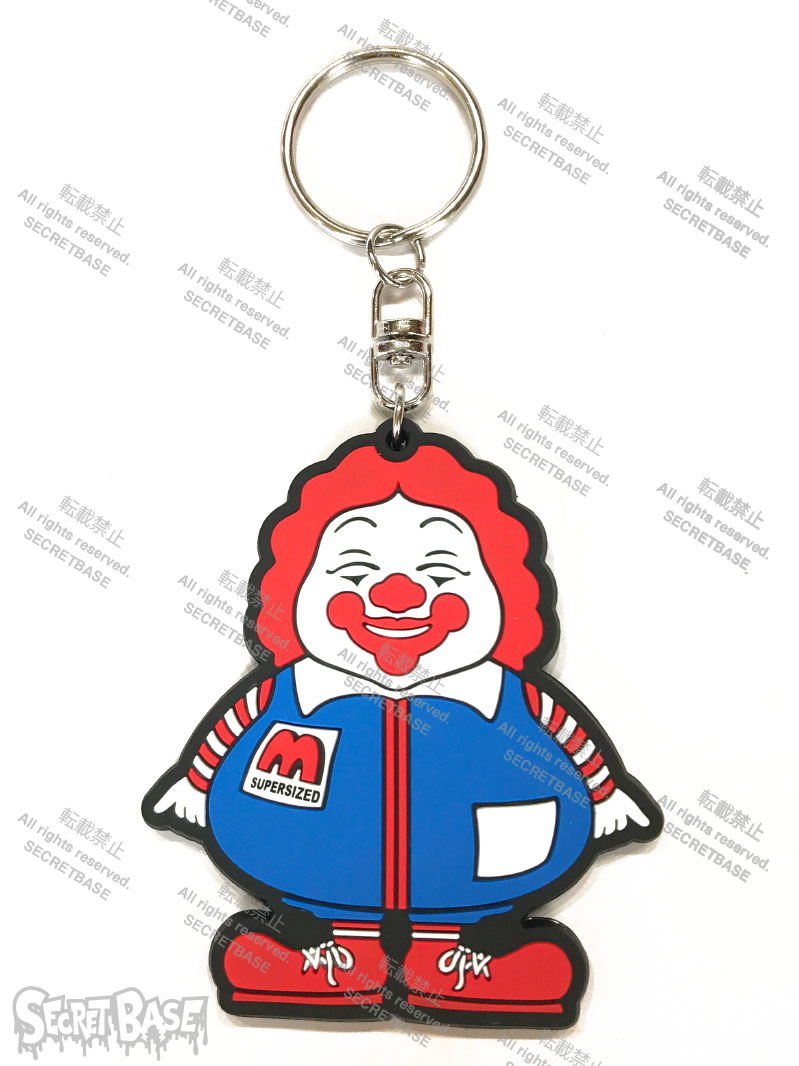 画像1: SUPER SIZED ME RUBBER KEY HOLDER BLUE (1)