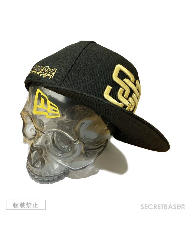 画像1: SBG New Era 9FIFTY × SECRETBASE 1/1 SKULL HEAD CLEAR BLACK SET (1)