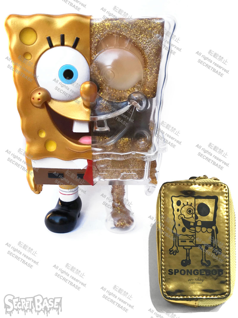 画像1: X-RAY SPONGE BOB FULL COLOR GOLD POUCH SET (1)