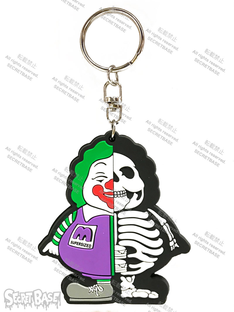 画像1: X-RAY MC SUPER SIZED RUBBER KEY HOLDER PURPLE (1)