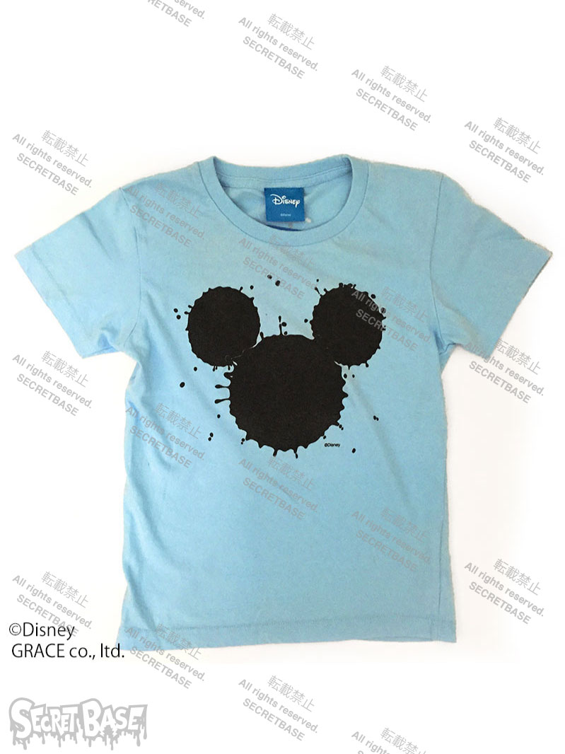 "画像1: DISNEY別注 The Disney Channel ""SPLASH MICKEY"" T-SHIRTS Kids BLUE (1)"