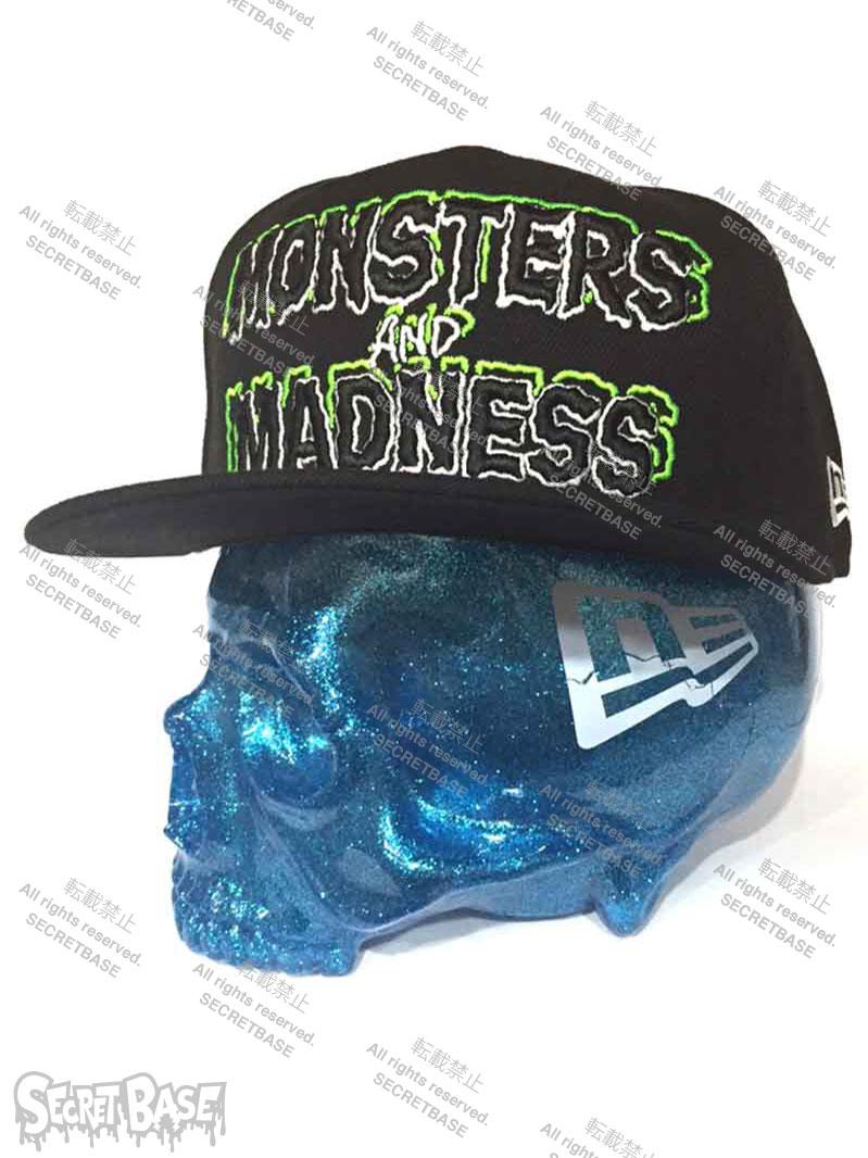 画像1: MONSTERS AND MADNESS New Era 9FIFTY × SECRETBASE 1/1 SKULL HEAD BLUE RAME SET (1)