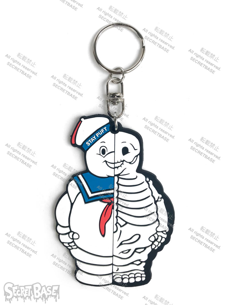 画像1: GHOSTBUSTERS MARSHMALLOW MAN X-RAY RUBBER KEY HOLDER (1)
